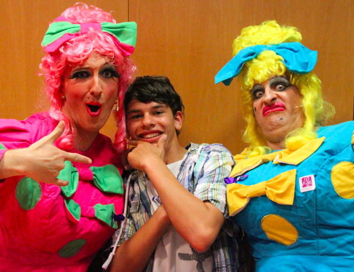 Robby tries to get the ugly sisters onboard for a fundraising frenzy over panto season and succeeded!
