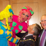 The ugly's have a bit of harmless fun with The Mayor and our founder Cllr John May.