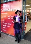 Jess welcomed the customers in style!