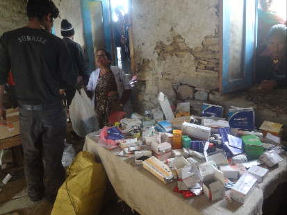 The pharmacy ran out of drugs on day one! Several helicopter loads were flown in over the week.