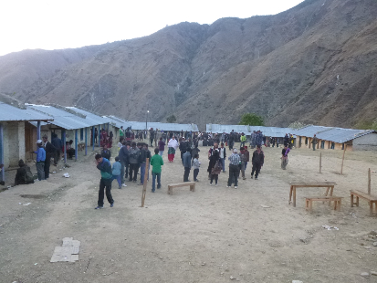 The local school was used as the area for our patients