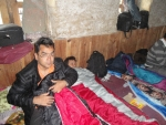 Kapil in his sleeping bag.