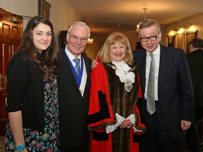 Frances Reynolds-Consort-Mayor-Rt Hon Michael Gove MP.