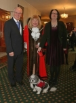 Mayor greets Action for Carers chair - Karen Holdsworth Cannon & her trusty assistance dog.