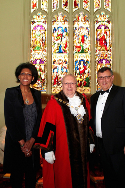 The Mayor & Mayoress of Surrey Heath 2010-2011 with Andrew Morris CEO of Frimley Park Hospital at The Mayors retreat.