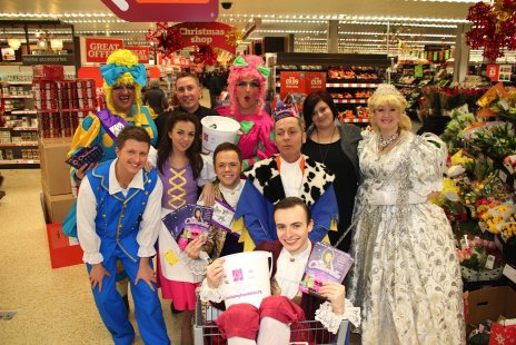 Cast and crew at Sainsbury's