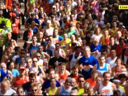 Live Marathon shot...where's Will?